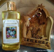 Jerusalem Anointing Oil, 250 ml 8.45 oz +Hand curved Nativity scene, EXCLUSIVE !