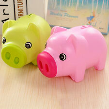 GreenCartoon Pig 19cm Money Piggy BankCreative Piggy Bank For Kid Saving Coin XE