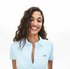LACOSTE WOMENS SLIM FIT MINI COTTON PIQUE POLO SHIRT SIZE FR36/38/42 RRP:-£85