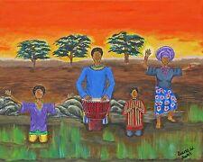 Beautiful African Print By Original Artist Diane Dunn Titled Celebration