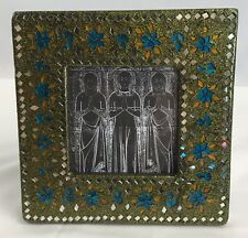Mosaic Frame with Print Sparkle Green 6 x 6 inches 3 x 3 Opening Standing