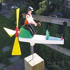 Retro Vintage Type Fisherman Whirligig, Whirlygig, Garden Windmill,