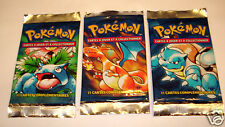 One Pokemon 1st Edition  Basic Booster Pack From Box--FRENCH Language