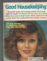 Good Housekeeping Magazine April 1974 Elizabeth Taylor Jacques Cousteau