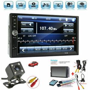 "7"" Car Stereo Radio HD MP5 Player Touch Screen Bluetooth Radio 2 Din Rear Camera"