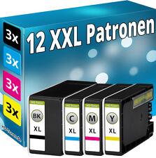 12x  TINTE PATRONEN für Canon Maxify MB2050 MB2150 MB2155 MB2350 MB2750 MB2755