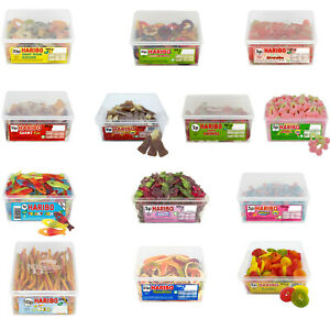Haribo Full Tub Sweets Candy Box Party Favours Treats Kids Sweets Candy 1-3 Tubs
