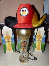 3x Erdinger Weißbier, Fußballglas 0,5l, Europameisterschaft 2016, Gold Pokal