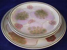 Denby Pottery Gypsy Set of 3 Plates Salad Bread Dessert England Retro Vintage