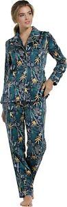 Pastunette Delux Satin Feel Pyjamas ~ Botanic ~  LAST SIZES   12  16  & 18  BNWT