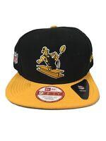 New Era Pittsburgh Steelers Snapback 9Fifty Basic Black Snapback Hat Cap