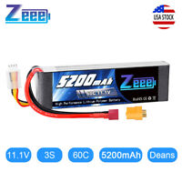 5200mAh 60C 11.1V 3S Deans LiPo Battery for RC Airplane Helicopter Car Drone