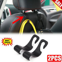 2xUniversal Car Auto Back Seat Hook Hanger Bag Coat Purse Organizer Holder Black