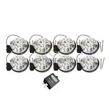 LAND ROVER DEFENDER WIPAC CLEAR LED LIGHT LAMP 73MM LENS UPGRADE KIT SET GA1191