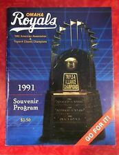 1991 OMAHA ROYALS MINOR LEAGUE BASEBALL PROGRAM
