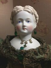 "18""CONTA&BOEHME ANTIQUE BEAUTIFUL HAIRSTYLE&GOWN PARIAN DOLL PRICE REDUCED!"