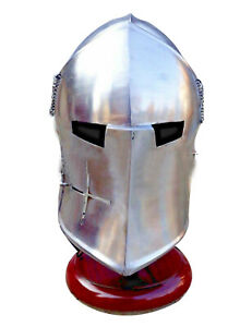 Medieval Barbuta Helmet Knight Templar Crusader Armour Helmet Halloween Sca Larp