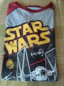 STAR WARS  MENS BASEBALL STYLE T SHIRT  LARGE   ~NEW WITH TAGS~