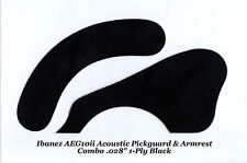 AEG10ii Pickguard & Armrest Combo 1Ply Black Acoustic for Ibanez Guitar Project