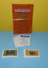 Monopoly The Lord of The Rings TRILOGY Edition Replacement Parts Deeds - CARDS