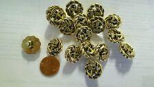 "12 pc Decorative 11/16"" Anchor Sailor Gold Buttons"