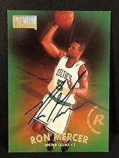 RON MERCER 1997-98 Skybox Premium Certified AUTOGRAPH On Card AUTO #35 Celtics