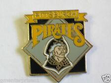 Pittsburgh Pirates Baseball Diamond/Logo Enamel Pin  (B2) Black