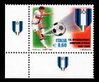 ITALIA Campionati di calcio Angolo di foglio AF Doppio Stemma Scudetto LUSSO **