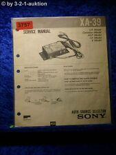 Sony Service Manual XA 39 Auto Source Selector (#3757)