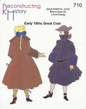 Schnittmuster RH 710 Paper Pattern Early 18th Century Great Coat