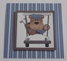 PACK 3 GOLF BUGGY TOPPER EMBELLISHMENTS FOR CARDS OR CRAFTS