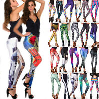 New Pattern Women 3D Print Leggings Stretchy Jegging Pencil Funky Pants Trousers