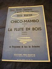Partizione Chico Mambo La flauto in legno Fred Martin Music Sheet