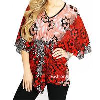 70'S Retro Hippy BOHO Kimono Batwing Net Sheer Knit Gathered Blouse Top S M L XL