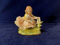 Vintage Dresden Little Girl Lace Figurine