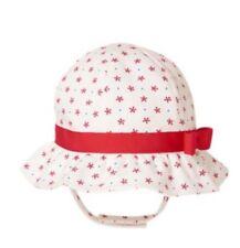 b0d225ac49d14 NWT Gymboree Girls Star Spangled Summer Butterfly Floral Sun Hat 3-6 M