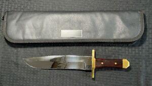 "Custom Handmade Steel John Morgan ""Grizz"" Bowie Knife Lot#SP16 Wood Handle"