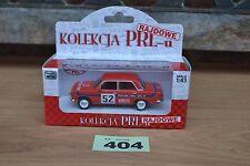 Poland Kolekcja PRLu Rajdowe Rally Polski Fiat 125P 1:43 Red Diecast Model FSO