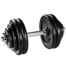 Mancuerna con pesas 30kg halteras de fitnes acero hierro musculación gimnasio