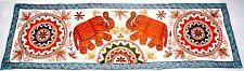 Indian Hippie Elephant Flower Mandala Wall Hanging Ethnic Decor Table Runner Art