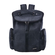 "DGY Men's Outdoor Canvas Leather Backpack Hiking Travel Laptop 15"" bag Tote Bag"