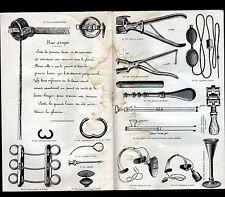 """PARIS (VII°) CATALOGUE USINE d'INSTRUMENTS de CHIRURGIE Veterinaire """"O.G.A"""" 1933"""