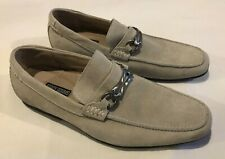 Stacy Adams Light Grey Suede Loafers, Belted, Men's Sz 9, 24805-125, Shoes