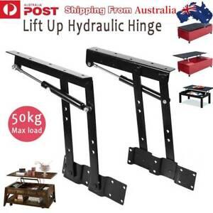 2X Folding Lift Up  Coffee Table Mechanism Furniture Fitting Hinge 50kg Load