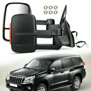 Left & Right Extendable Towing Mirrors For Toyota Prado 150 Series 2009-ON