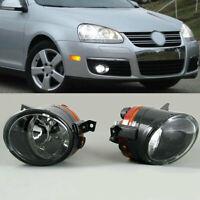 2pcs Front Bumper Convex Lens Fog Lights Lamp For VW Golf GTI Jetta MK5 Tiguan