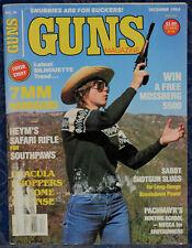Magazine *GUNS* December, 1984 !! AITOR Survival Knife JUNGLE KING II, Spain !!