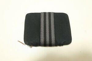 Authentic Hermes Canvas Wallet Black Purse #8039