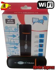 MODEM (Pincho) 3G LIBRE USB router Wifi, para coche,tablet,pc,Ipad