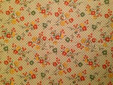 1 yard x WOF flowers on checked background
